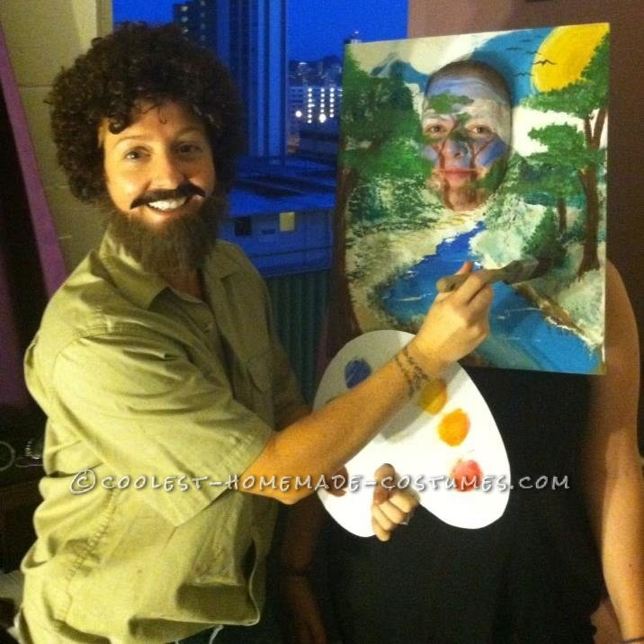 Bob Ross and His Happy Trees Couple Costume