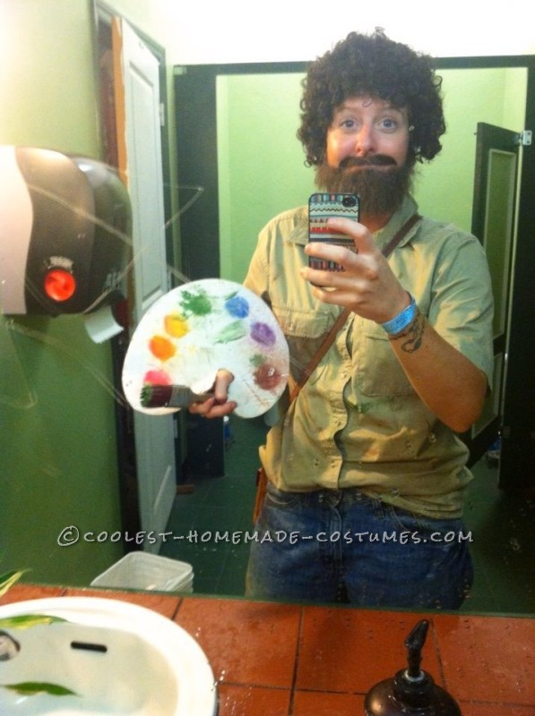 Bob Ross and His Happy Trees Couple Costume - 1