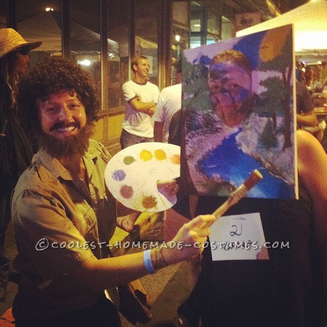 Bob Ross and His Happy Trees Couple Costume - 2