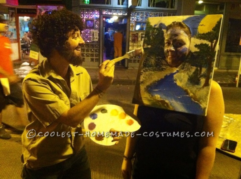 Bob Ross and His Happy Trees Couple Costume - 3