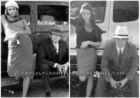 Brianna and Cody as Bonnie and Clyde Couple Costume