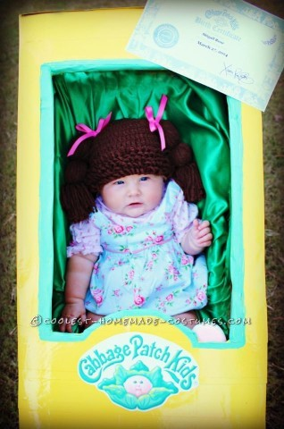 Cutest Ever Cabbage Patch Doll Costume for a Baby