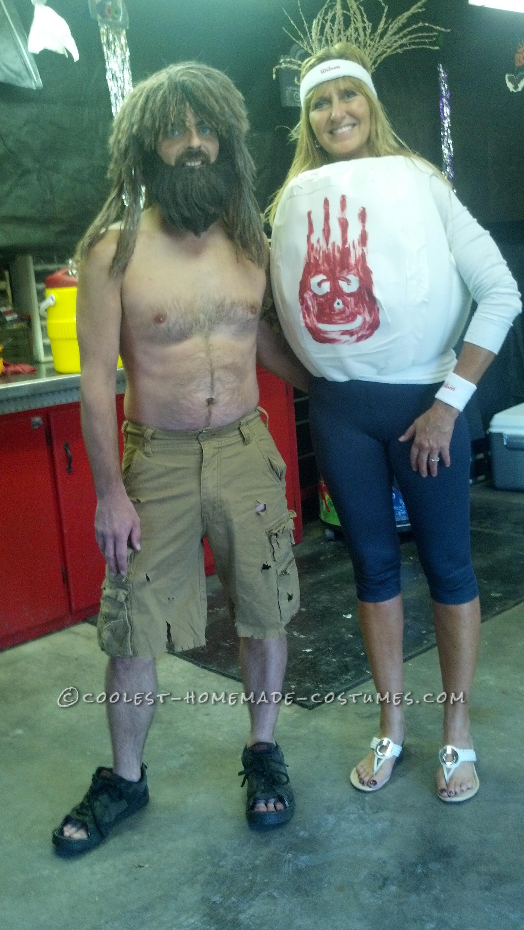 Castaway and Wilson DIY Couple Costume
