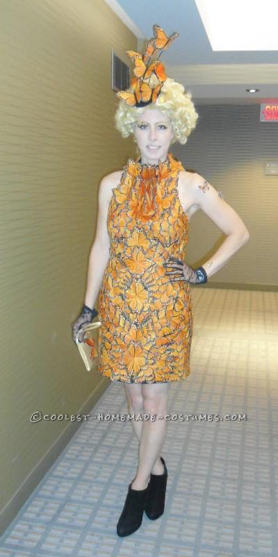 Effie Trinket's butterfly dress