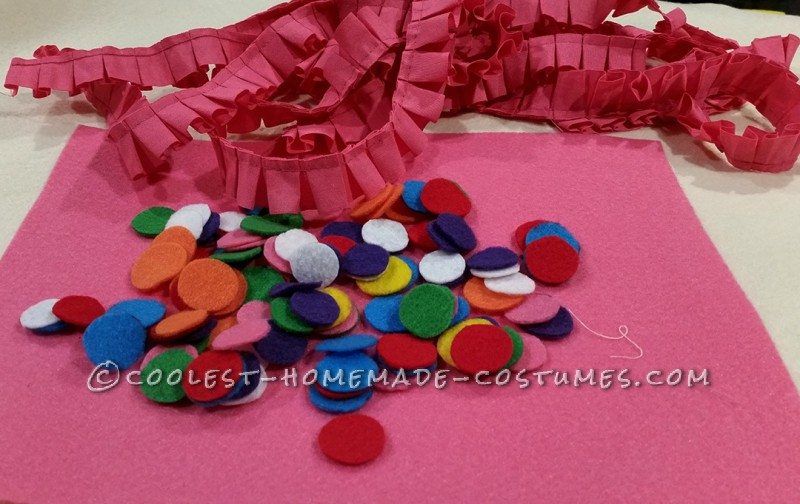 Felt and pleated ribbon are all the supplies needed once you have your clothes picked out.