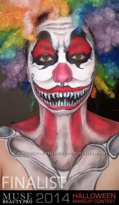 Creepy Clown Makeup Costume - 5