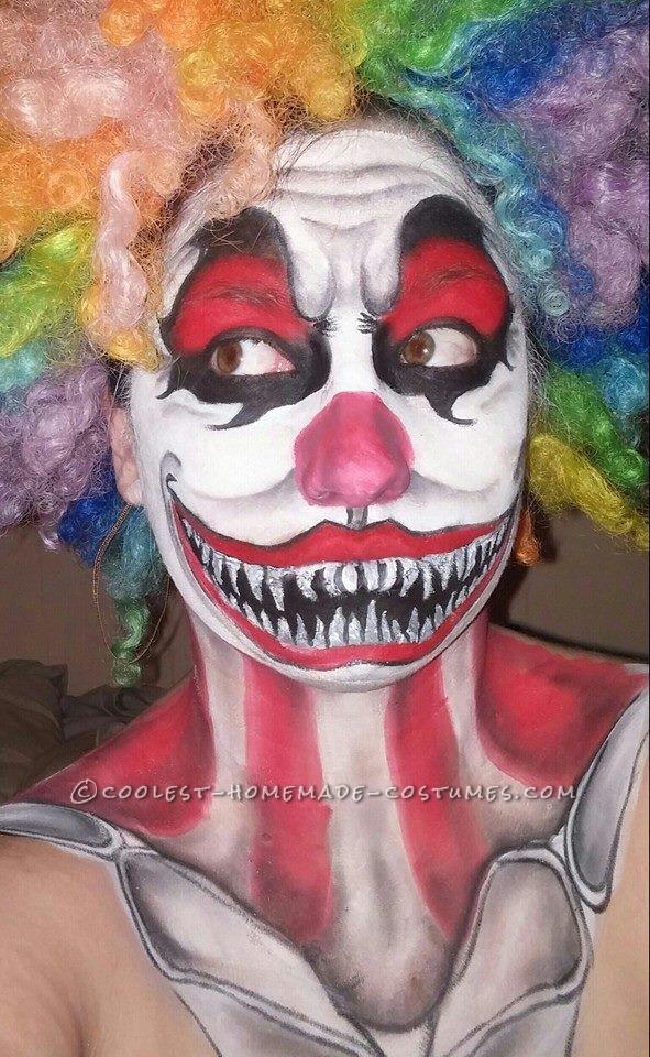 Creepy Clown Makeup Costume