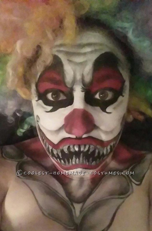 Creepy Clown Makeup Costume - 2