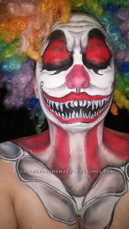 Creepy Clown Makeup Costume - 4