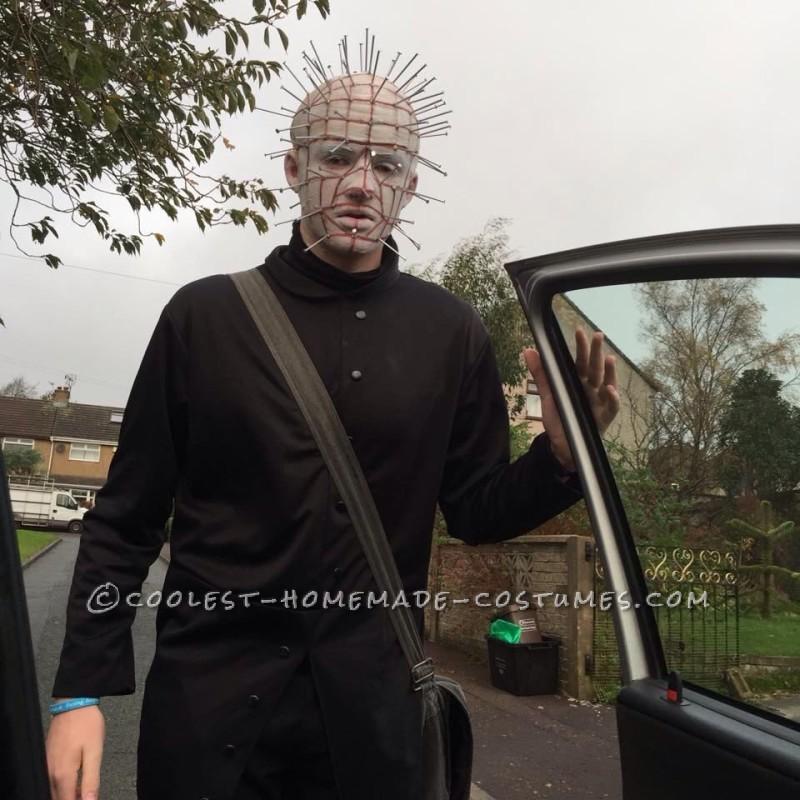 Creepy Homemade Pinhead Costume