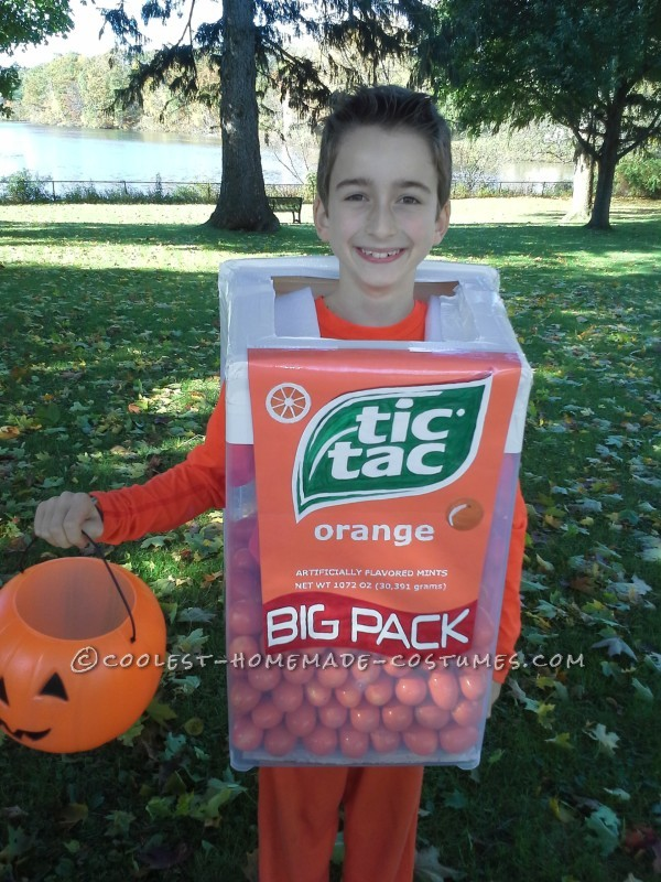 Tic Tac Costume Front