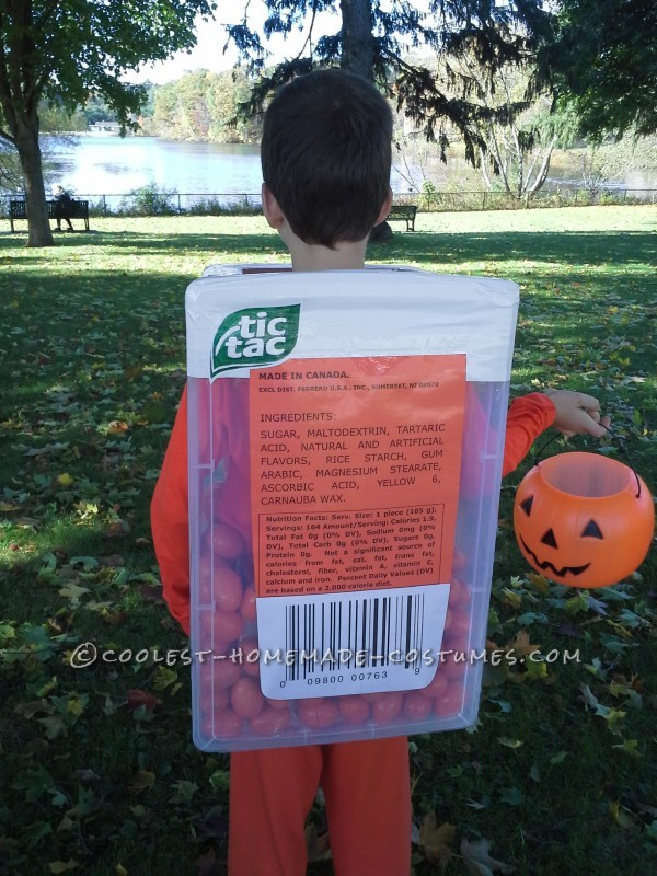 Enormous Tic Tac Container Costume
