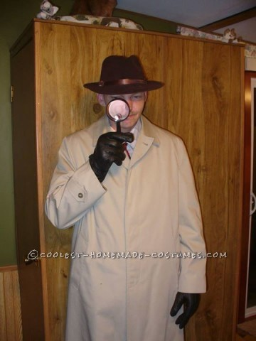 Cool Homemade Costume for Couples: Hot Pink Panther and Inspector Jacques Clouseau
