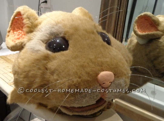 nose, teeth, whiskers and paint detail