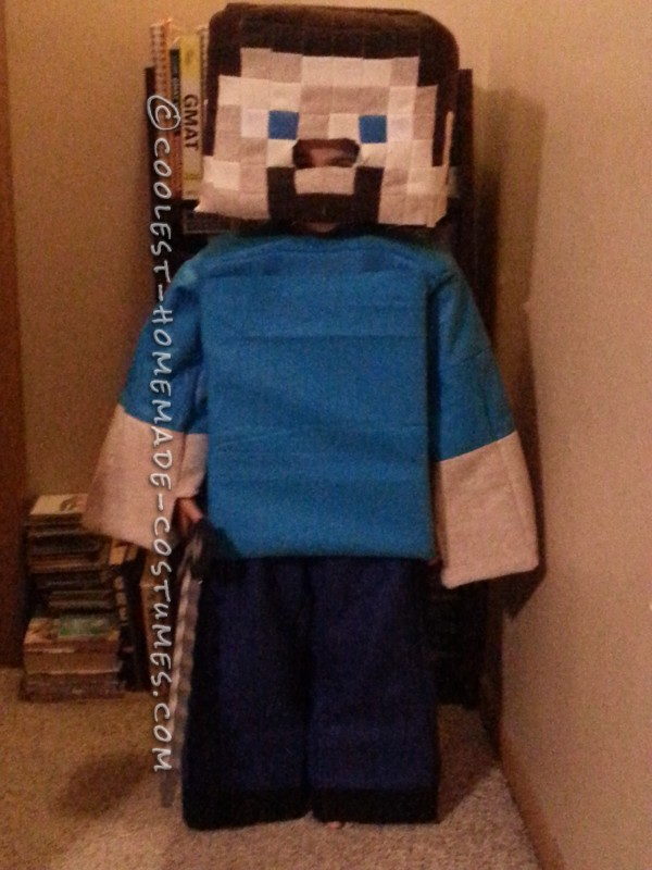 Coolest Minecraft Steve Costume Ever - 2