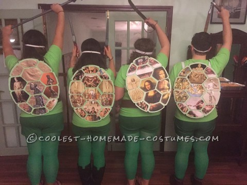 Coolest Ninja Turtle Group Costume with Artist Shells