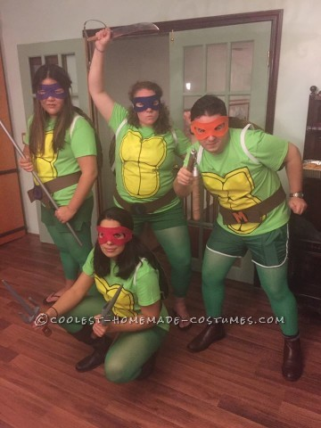 Coolest Ninja Turtle Group Costume with Artist Shells