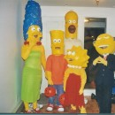 Coolest Paper Mache Simpsons Family Costumes