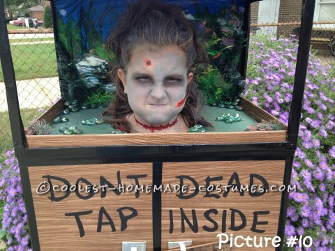 Original Zombie Head in a Fish Tank Costume