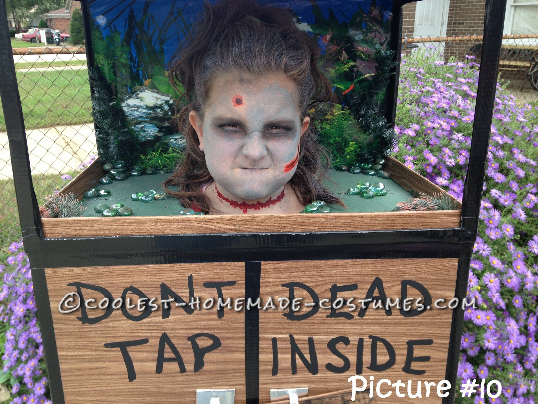 Original Zombie Head in a Fish Tank Costume