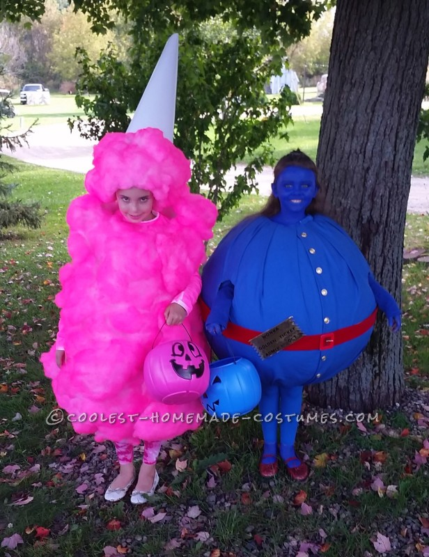Cool Pink Cotton Candy Costume for a Girl - 1