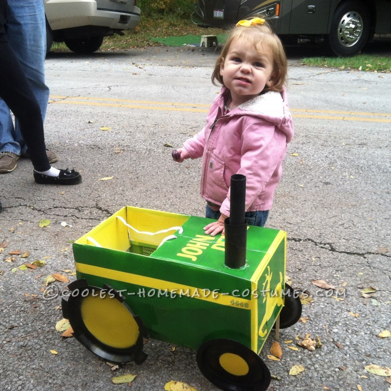 Daughters John Deere tractor (that she refused to wear)