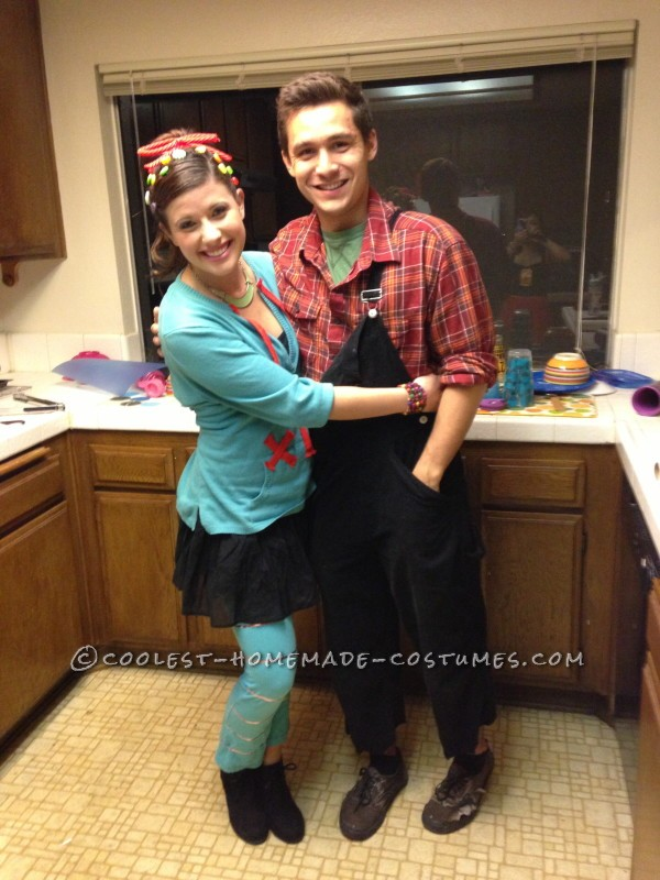 Cute and Cheap Wreck-It Ralph Couple Costume - 1