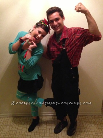 Cute and Cheap Wreck-It Ralph Couple Costume