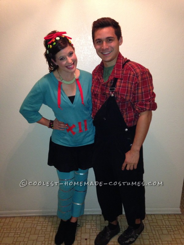 Cute and Cheap Wreck-It Ralph Couple Costume - 2