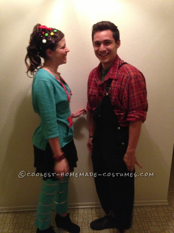 Cute and Cheap Wreck-It Ralph Couple Costume - 4