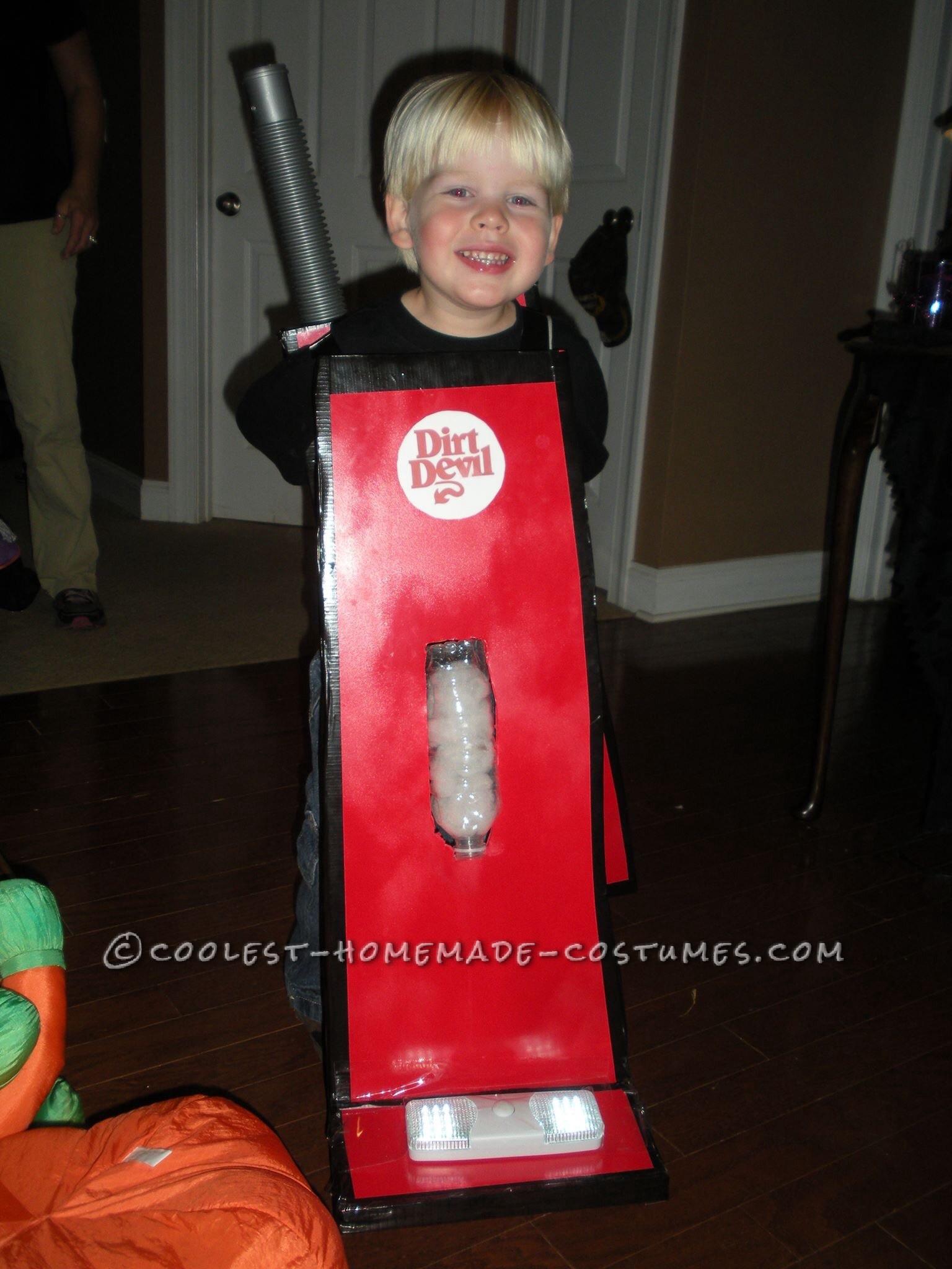 Cutest Little Dirt Devill Vacuum Costume for a Boy