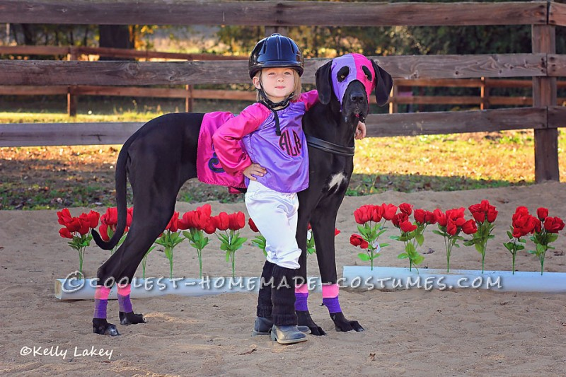 Cutest Race Horse and Jockey Duo Costume Ever! - 1