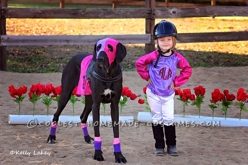 Cutest Race Horse and Jockey Duo Costume Ever! - 2