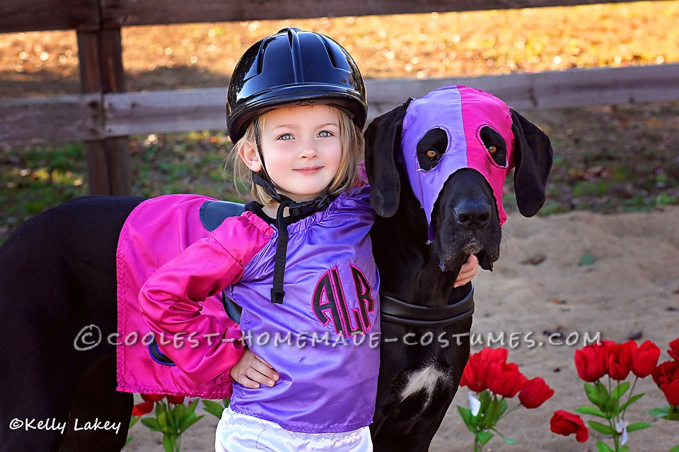 Cutest Race Horse and Jockey Duo Costume Ever!