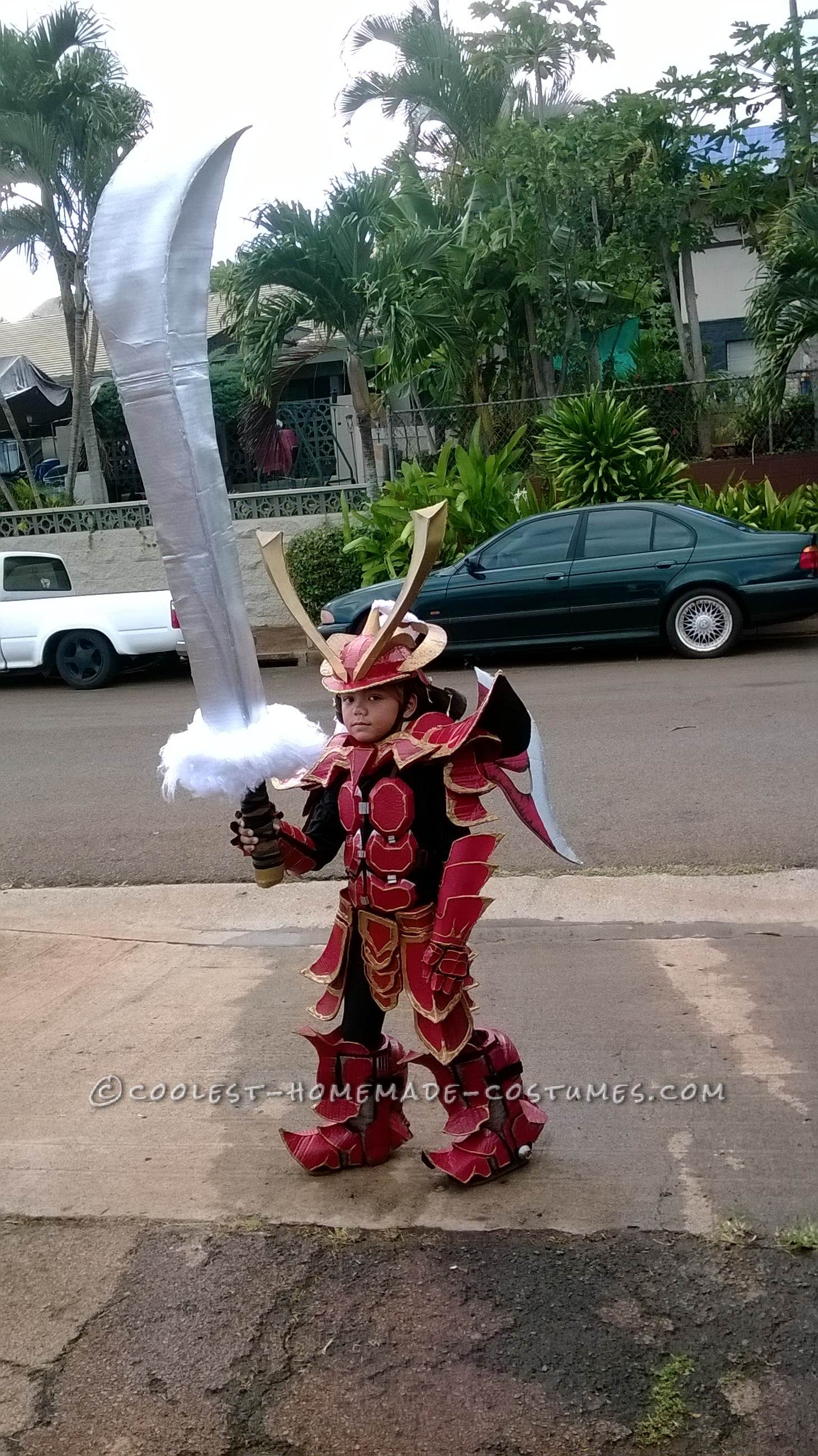 """Over-the-Top Homemade Samurai Costume by """"OCD"""" Dad"""