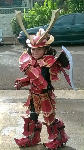 Over-the-Top Homemade Samurai Costume by