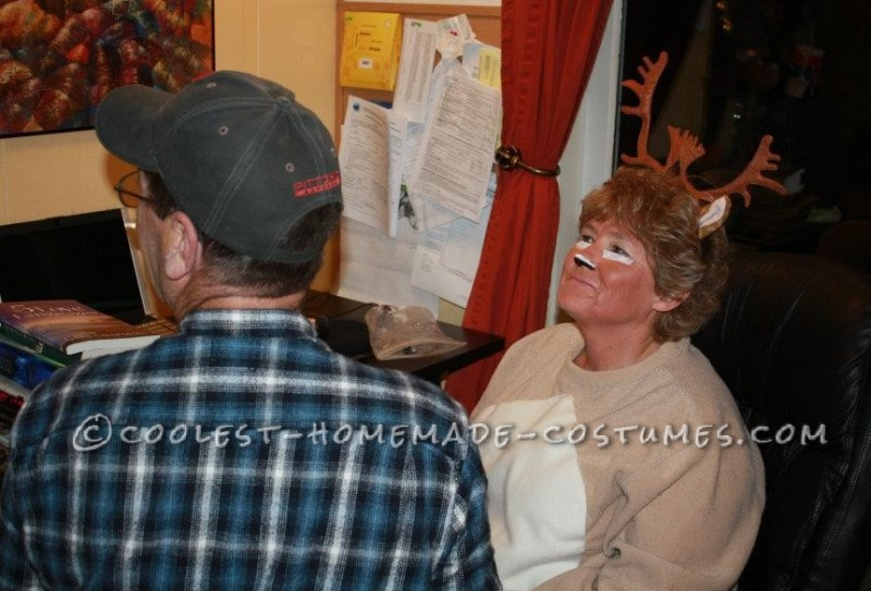 another view of the face painting in progress