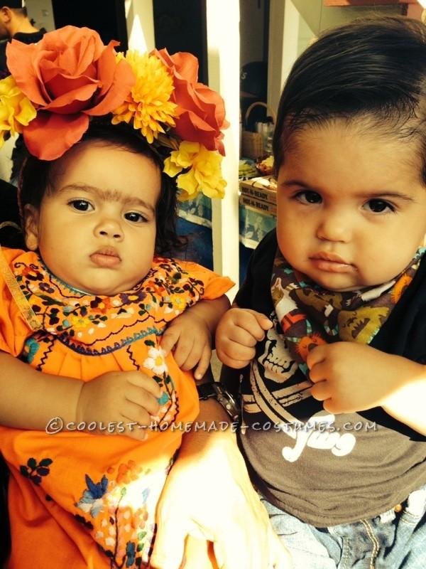 Adorable DIY Baby Frida Kahlo Costume