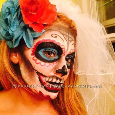 Day of the Dead Bride Makeup and Costume