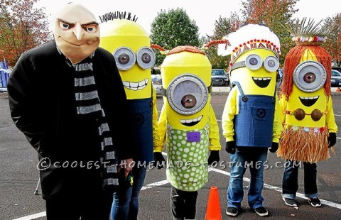 Dispicable Me Group Costume: Gru and his Minions!