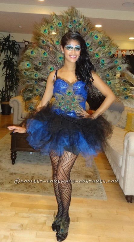 Beautiful DIY Woman's Peacock Costume