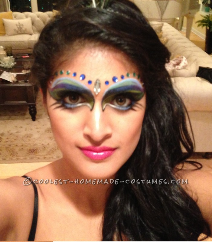 Beautiful DIY Woman's Peacock Costume - 1