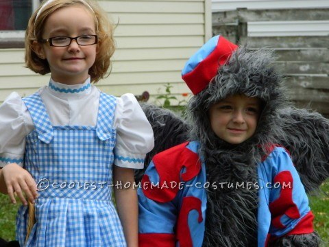 Dorothy and the Flying Monkey Toddler Couple Costume