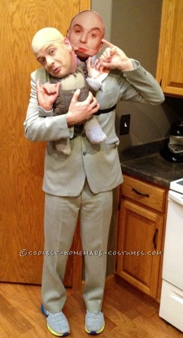 Funny Dr. Evil and Mini Me Illusion Costume