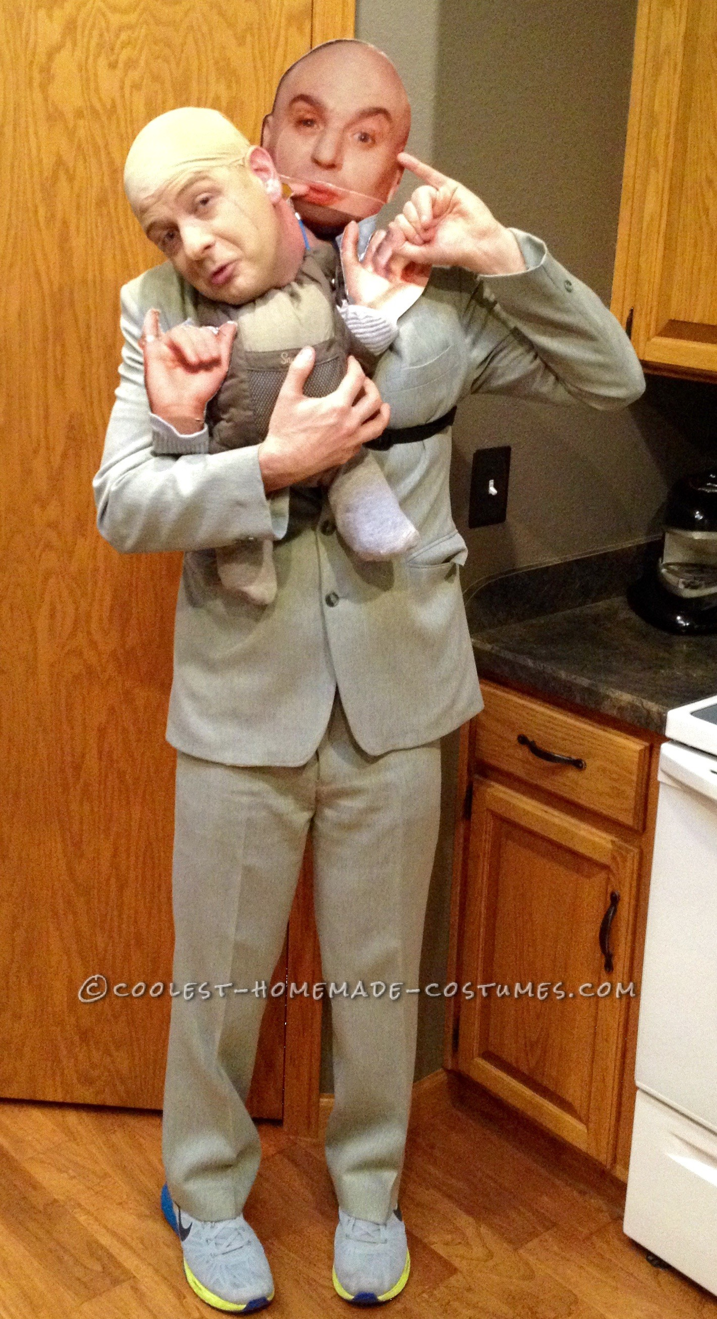 Funny Dr Evil And Mini Me Illusion Costume