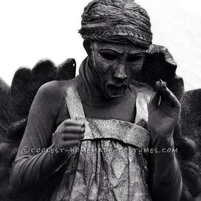 Awesome Dr. Who Weeping Angel Costume for a Girl - 1
