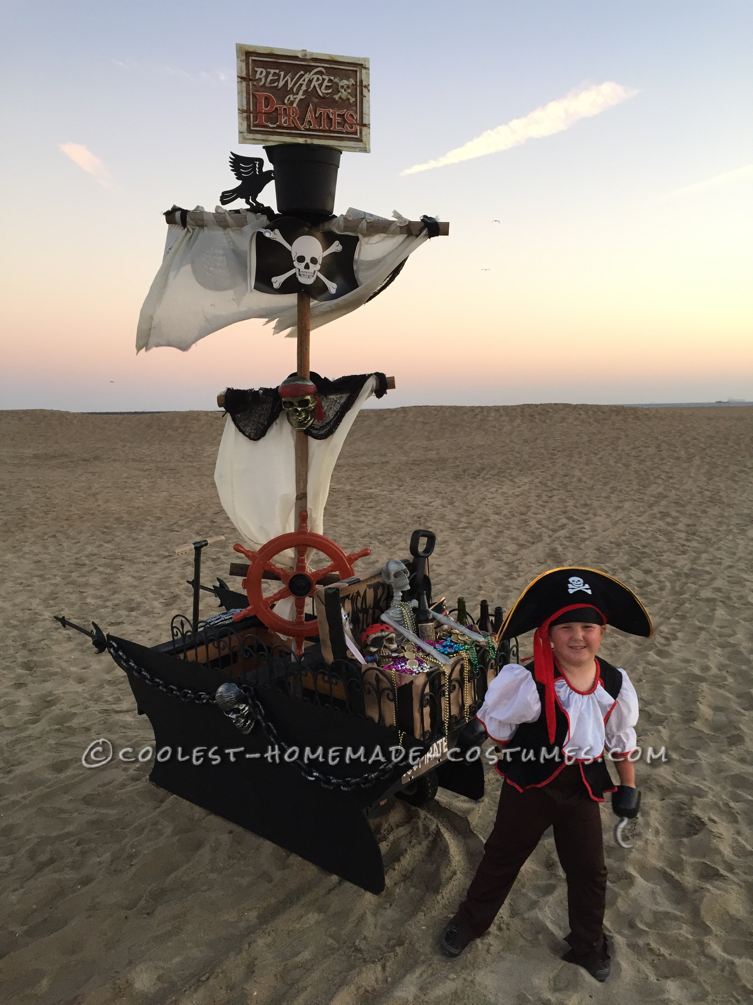 DIY Creative Pirate Ship Done in Two Weeks