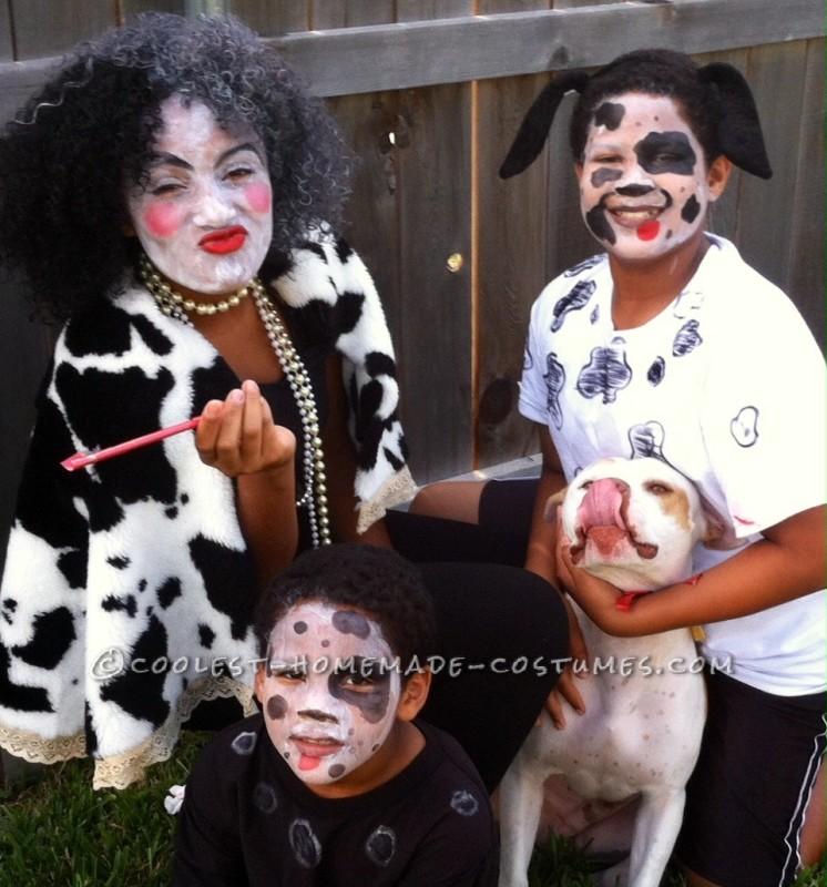Cruella Deville & her 3 Dalmations