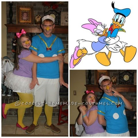Easy Donald and Daisy Duck Couples Costume