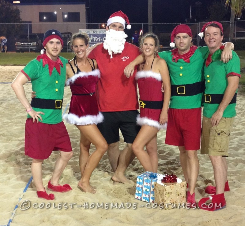 Easy No-Sew DIY Christmas in July Group Costume